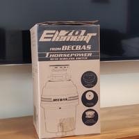 贝克巴斯E70家用厨房食物垃圾处理器开箱细节(主体 接口 复位键 插头 开关)