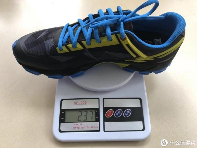41码单只鞋重237克