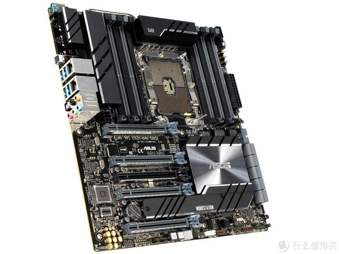 双万兆、支持1.5TB内存:ASUS 华硕 发布 Pro WS C621-64L SAGE/10G 旗舰工作站主板