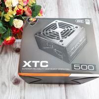 骨伽XTC电脑电源外观展示(主机 电源线 出风口 风扇 开关)