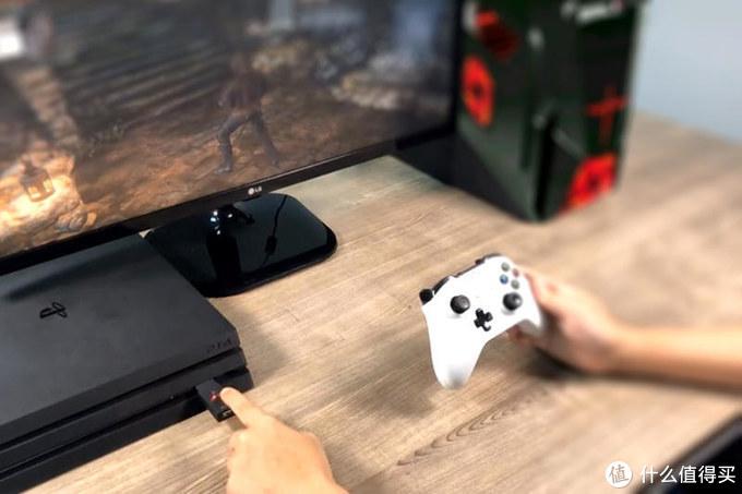 身无彩凤双飞翼,PS4玩家体验酷威T100转换器