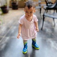 宝宝再也不怕有水坑了,Hatley 恐龙动物园 儿童雨鞋