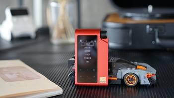 头领科技红衣太子Hi-Fi播放器外观展示(显示屏|按键|插槽|接口)