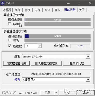 5005u,单核174.8,多核568.9