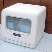 圈厨台式洗碗机开箱展示(散热网 接口 电源线 底部 前面板)