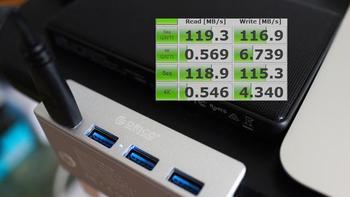 ORICO卡扣式USB集线器使用体验(供电|读写速度|接口)