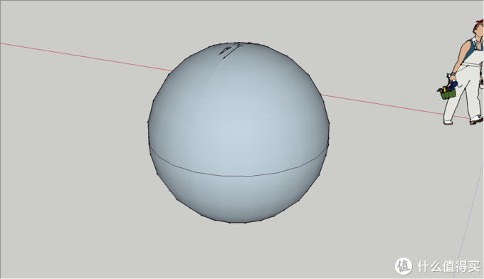 点击竖直的圆平面,即可得到一个球体