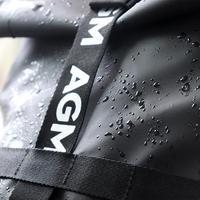 AGM黑盾防水双肩背包外观特写(布料 材质 卡扣 面料)