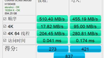 七彩虹SL500限量版性能测试(操作 处理器 软件 跑分)