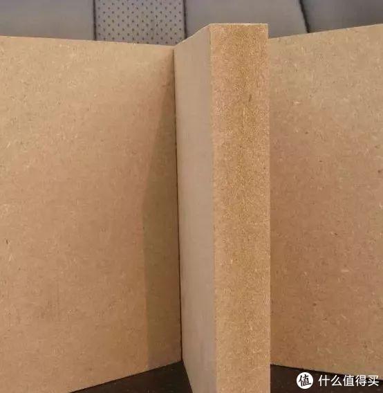 上图:密度板素板