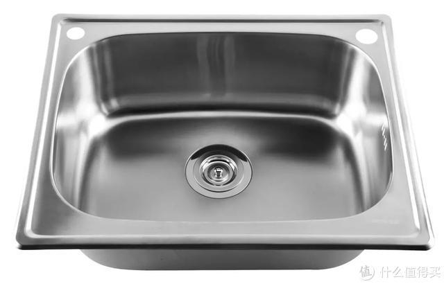 上图:哑光表面的水槽