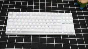 GANSS GS87-D 背光双模机械键盘细节展示(键帽 脚垫 接口)
