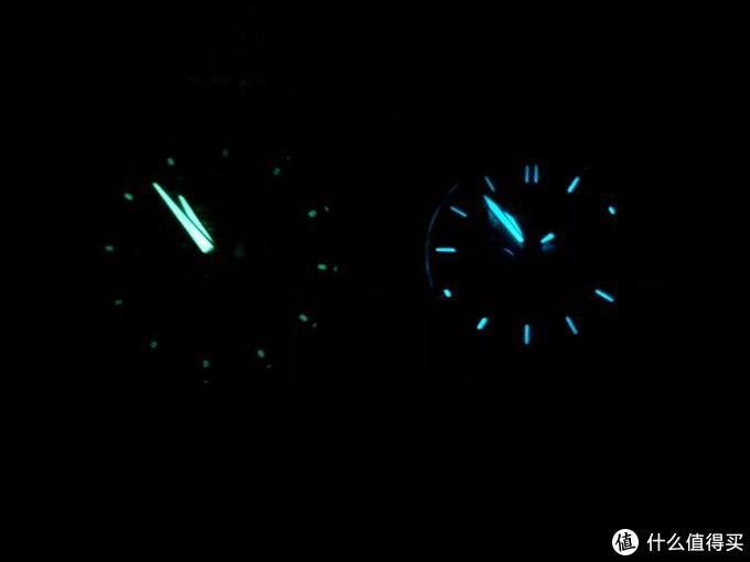 左边是ef540,右边是s1400夜光效果