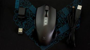 雷柏V20PRO双模版游戏鼠标细节展示(尺寸|脚贴|侧键|滚轮)