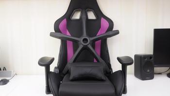 酷冷至尊电脑椅外观展示(万向轮|底座|扶手)
