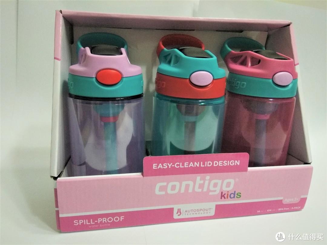 儿童喝水的好伙伴之Contigo康迪克儿童吸管杯晒单及评测