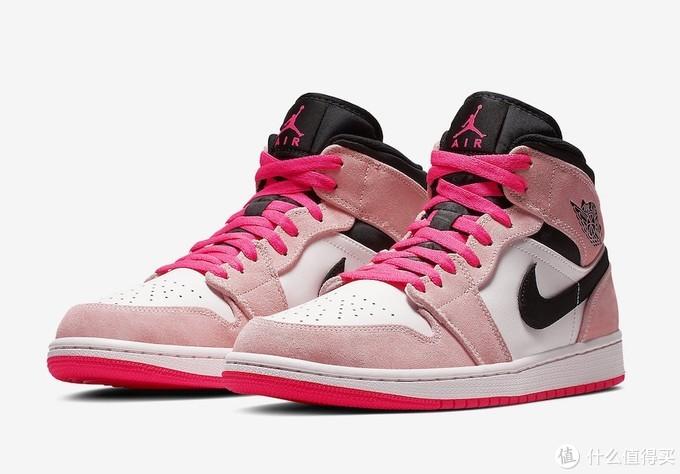 我太难了!分享一双倒闭款,但很中意的鞋子---AJ1 mid 粉樱花