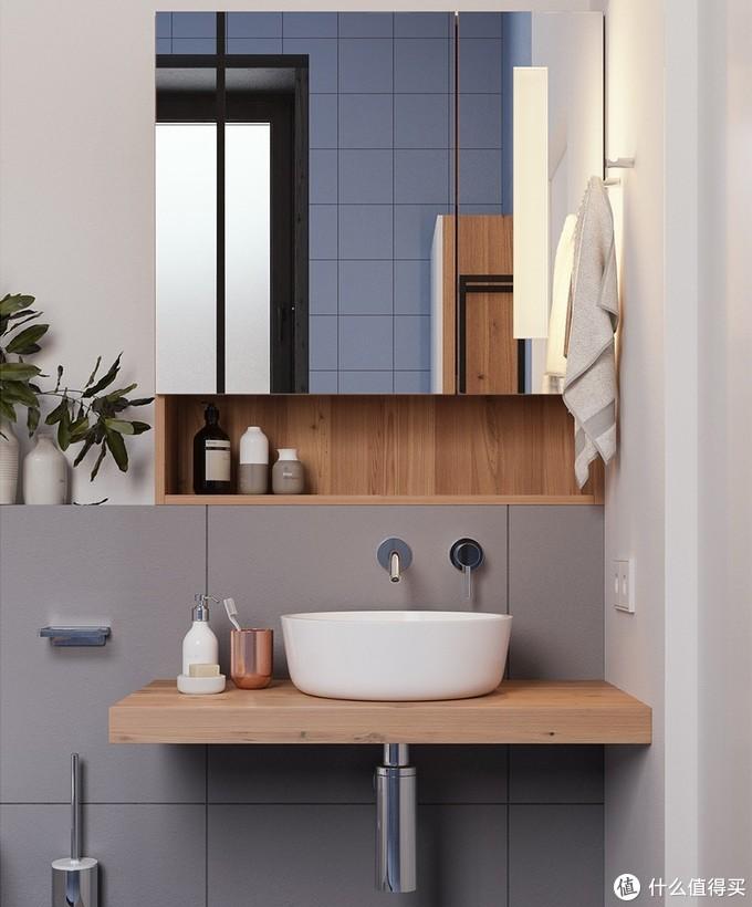 遵循这样的设计原则,卫生间空间能扩大1倍