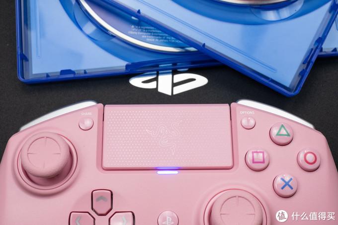游戏电竞玩家不一样的操控选择:Razer Raiju 雷蛇飓兽竞技版粉晶PS4手柄