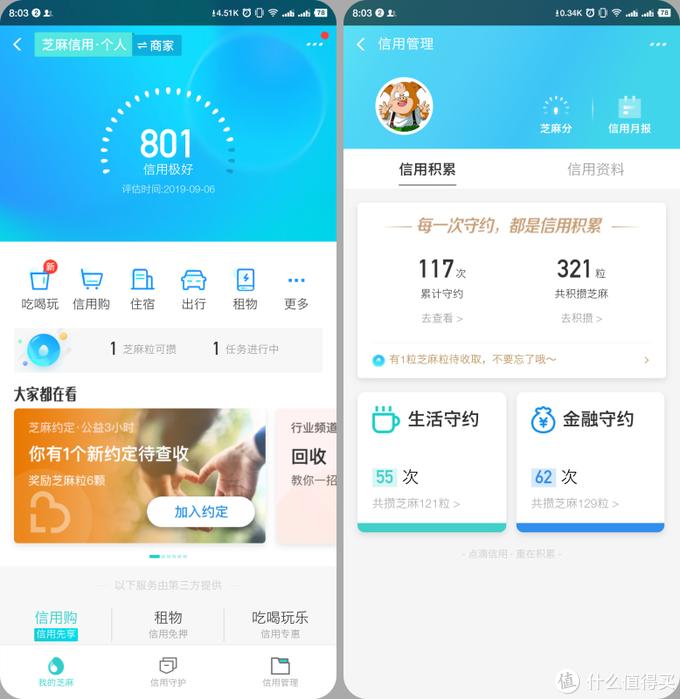 Alibaba20周年了,你的芝麻信用分多少了?我的半年没涨了...