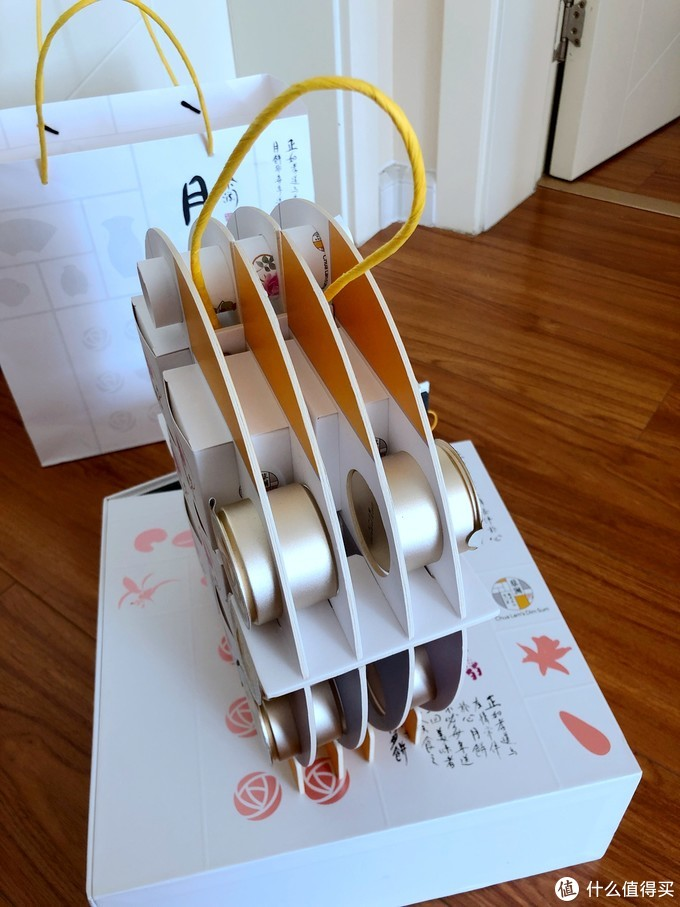 包装比月饼好系列-蔡澜月月饼 玫瑰六仁+玫瑰罗汉果茶 礼盒小品
