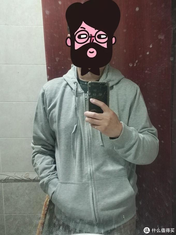 图书馆猿のINTERIGHT系列晒单 07:男士帽款开衫卫衣