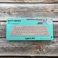 罗技K380蓝牙键盘外观展示(键帽 上盖 电池仓)