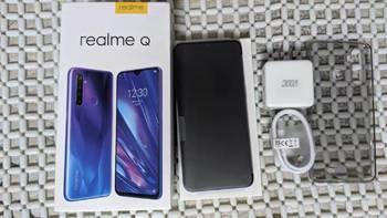 realme Q安卓手机外观细节(正面 home键 屏幕 机身)