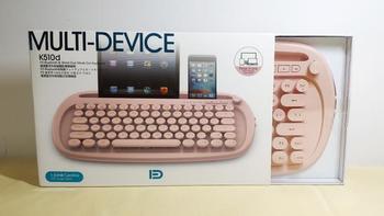 富德K510d无线蓝牙键盘外观展示(键帽 卡槽 线材 指示灯 脚贴)