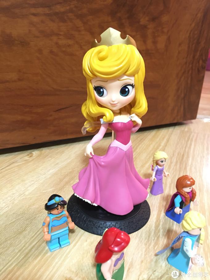 万代Qposket眼镜厂迪士尼公主手办景品—爱洛开箱晒物