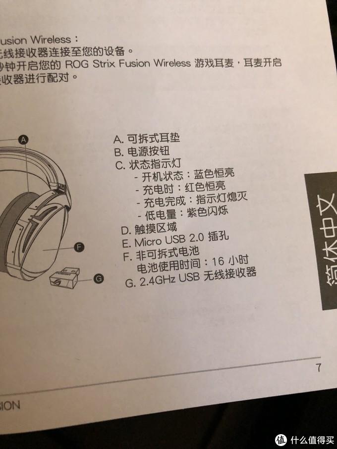说明书每种语言就一页内容显示,含有功能按键和指示灯状态提示