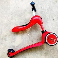 酷骑V2二合一儿童滑板车外观展示(脚踏板|坐垫|把手)