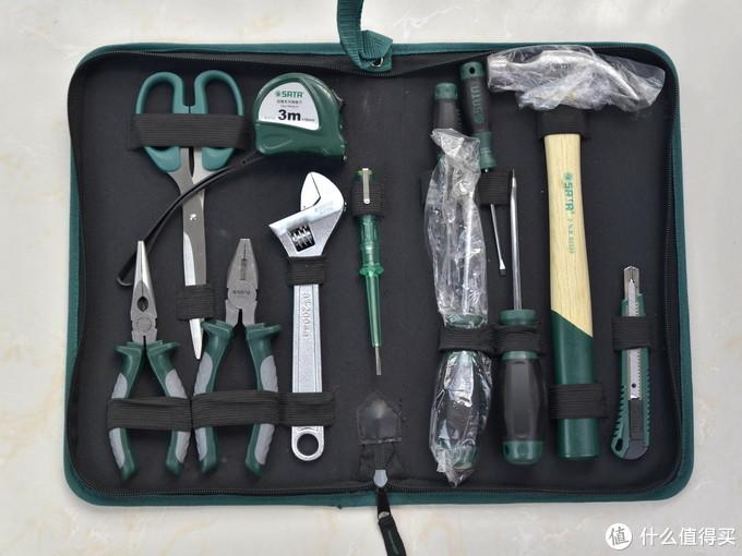 家庭必备的工具套装,世达12件家用基本工具礼包体验