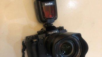 Godox TT685 闪光灯for 富士相机上机效果(闪光灯|电池)