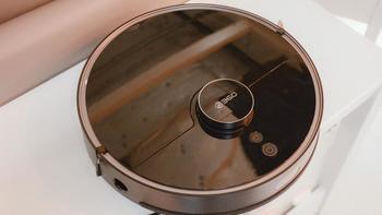 360扫地机器人T90外观展示(屏幕|提手|按键|集尘盒|滚刷)