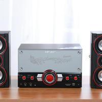 先科多媒体音箱外观展示(做工|重量|充电口|插头|插口)