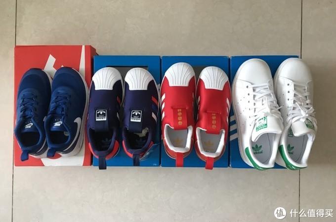 花一双鞋的价钱在考拉海购买了四双——Adidas、Nike童鞋晒单