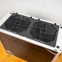乔思伯A4 ITX机箱外观展示(开机键 指示灯 挡板 插口)