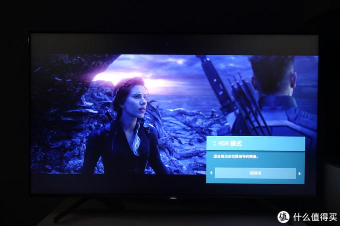"""HDR模式开启 索尼U8G图像模式设置为""""标准"""""""