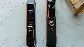 希箭C1智能锁外观展示(锁体|拉手|面板|匙锁孔|电池仓)