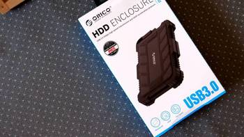 ORICO三防硬盘盒外观展示(网线|接口|尺寸|材质|线头)