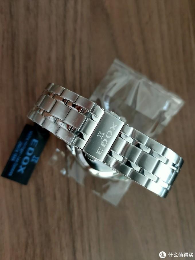 【开箱】可惜没有背透的月相,EDOX依度80505-3M-NIN机械腕