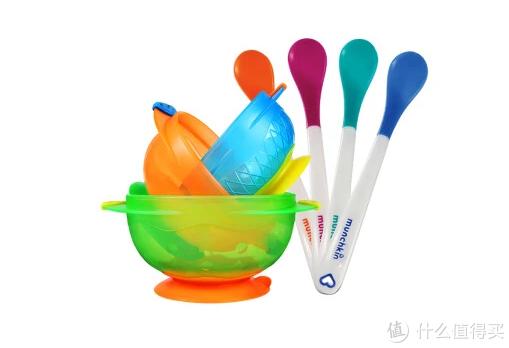 宝宝添加辅食伊始需要的好碗勺-Munchkin 满趣健 儿童餐具吸盘碗+感温勺7件套装分享