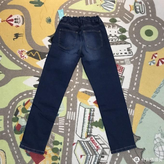 GU儿童弹力水洗牛仔裤