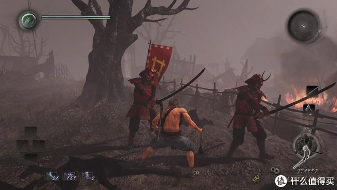 可以看到,全身赤备的井伊直政的部队。井伊直政的身着红色甲胄的部队是从武田接收来的。这个在大河剧女城主直虎里面有说到。