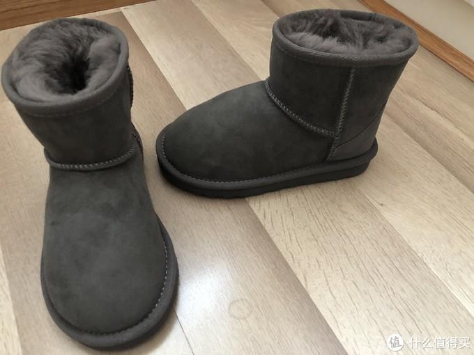 不到40元的京东生态链雪地靴怎么样?且看INTERIGHT皮毛一体儿童雪地靴(灰色版)