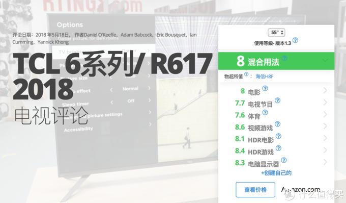 TCL R617评分