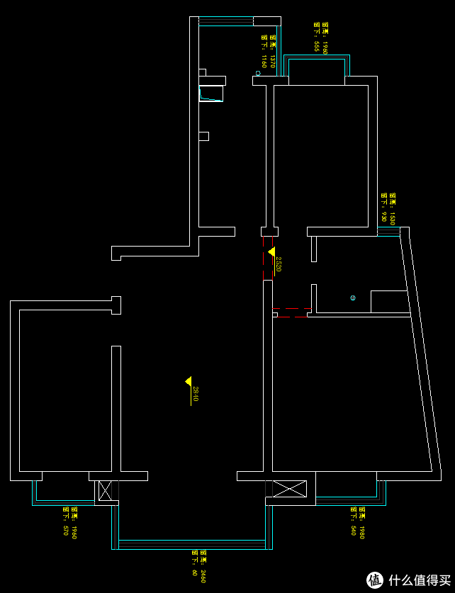 房间原始户型图