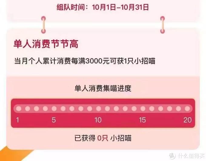 招行十月活动,组团集喵兑888刷卡金!