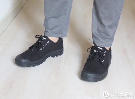 特定场合适用,穿着舒服,丑我也认了——palladium 帕拉丁 75331低帮帆布鞋详晒